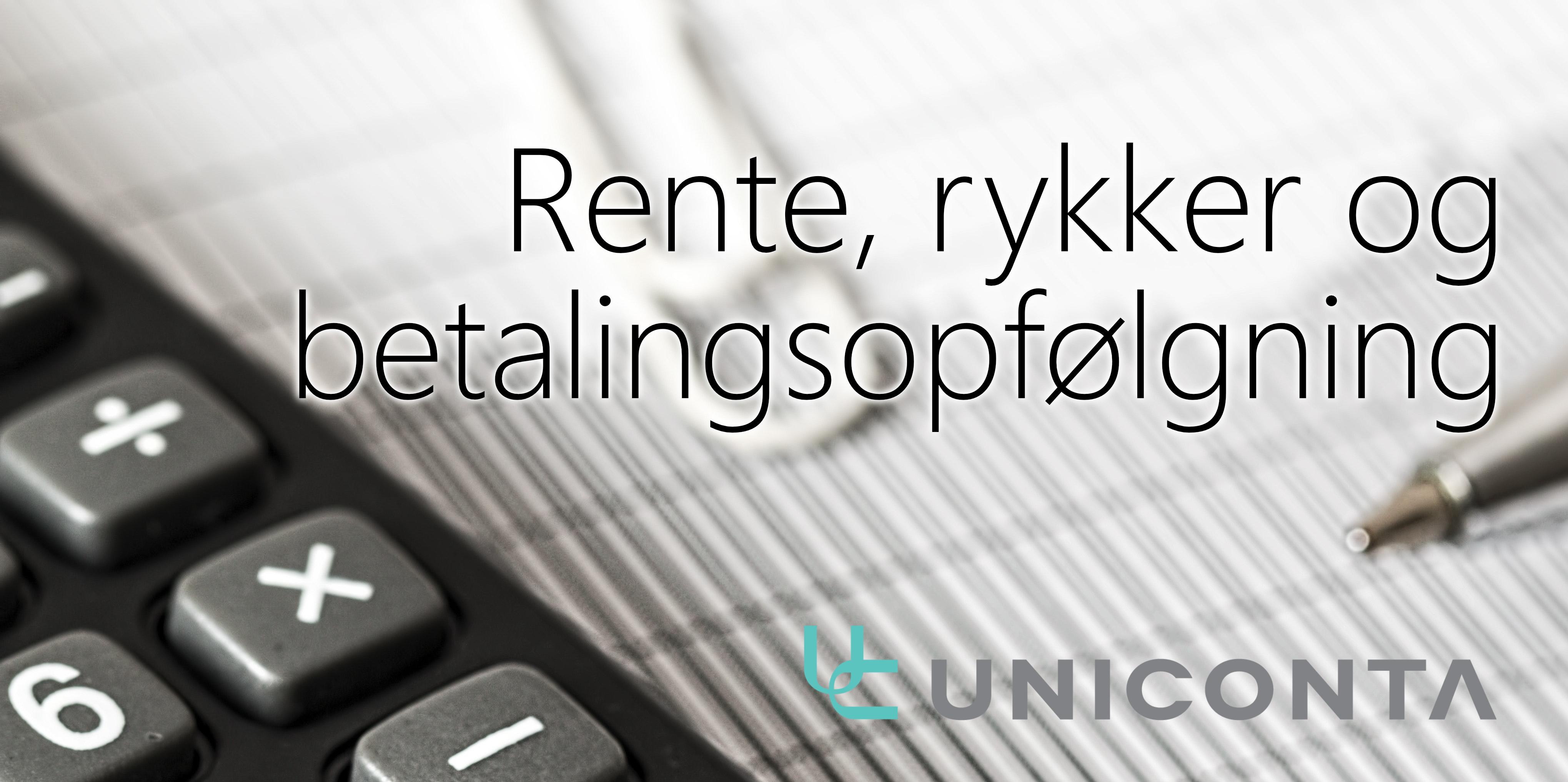 Rente, rykker og betalingsopfølgning i Uniconta